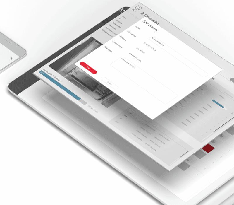 Projekt interfejsu aplikacji dla drukarek 3D